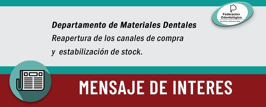 Departamento de Materiales Dentales