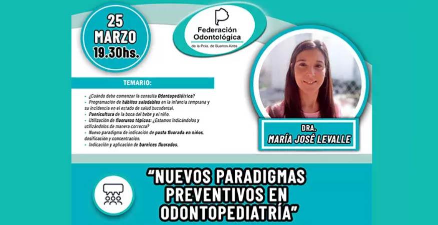 Videoconferencia - Nuevos paradigmas preventivos en odontopediatría
