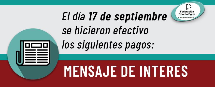 pagos efectuados el 17 de septiembre