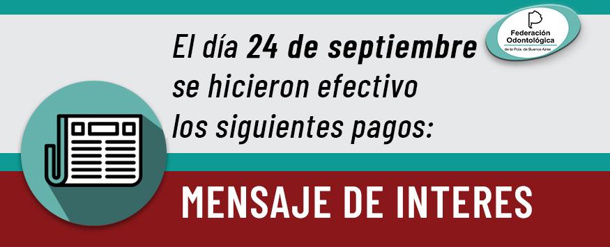 pagos efectuados el 24 de septiembre